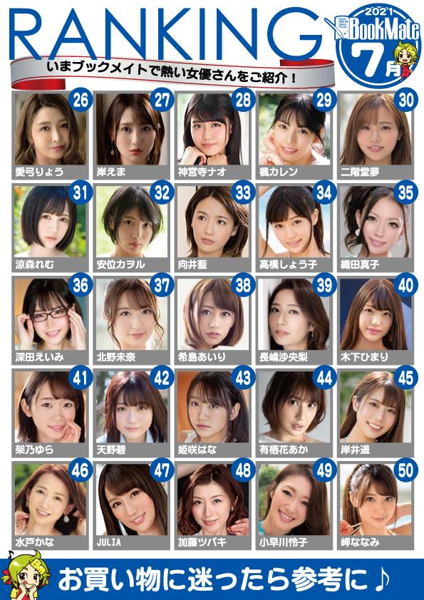 BXH diễn viên 18+ ăn khách 6/2021: Yua Mikami đánh rơi ngôi đầu, Eimi Fukada vẫn chìm nghỉm? - Ảnh 3.