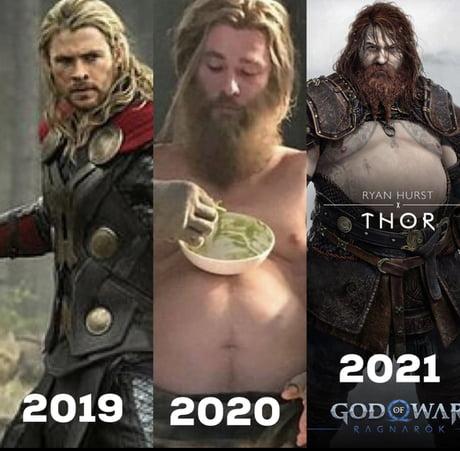 Chết cười với loạt ảnh chế tạo hình mới của Thor trong God of War: Ragnarok, cái bụng bia là điểm nhấn - Ảnh 2.