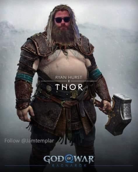 Chết cười với loạt ảnh chế tạo hình mới của Thor trong God of War: Ragnarok, cái bụng bia là điểm nhấn - Ảnh 5.