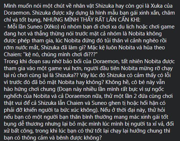 Fan Việt bất ngờ ném đá Shizuka sau bao năm: Thảo mai, hai mặt với Nobita, là hình mẫu gái Nhật phải tránh xa? - Ảnh 3.