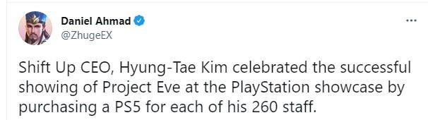Giới thiệu thành công game Project Eve, CEO Shift Up chi gần 3 tỷ để mua PS5 ship tận bàn tặng cho nhân viên - Ảnh 3.
