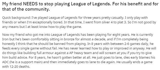 Game thủ phàn nàn về người bạn chơi LMHT suốt 8 năm nhưng chỉ toàn feed và toxic, cộng đồng bùng nổ ý kiến trái chiều - Ảnh 2.