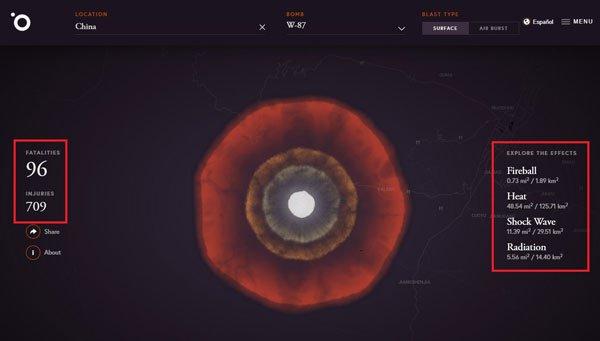 Trang web cho phép bạn thử nghiệm kích hoạt bom hạt nhân - Ảnh 4.