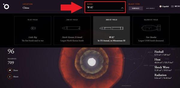 Trang web cho phép bạn thử nghiệm kích hoạt bom hạt nhân - Ảnh 6.