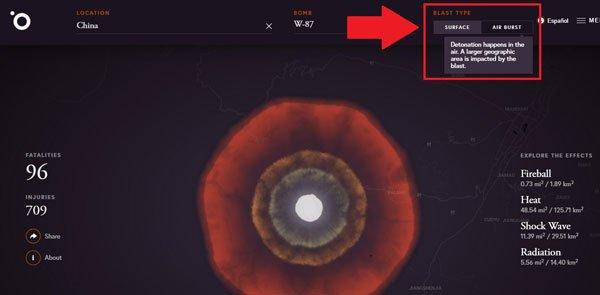 Trang web cho phép bạn thử nghiệm kích hoạt bom hạt nhân - Ảnh 7.