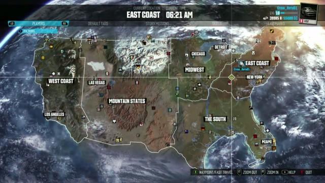 The Crew Map