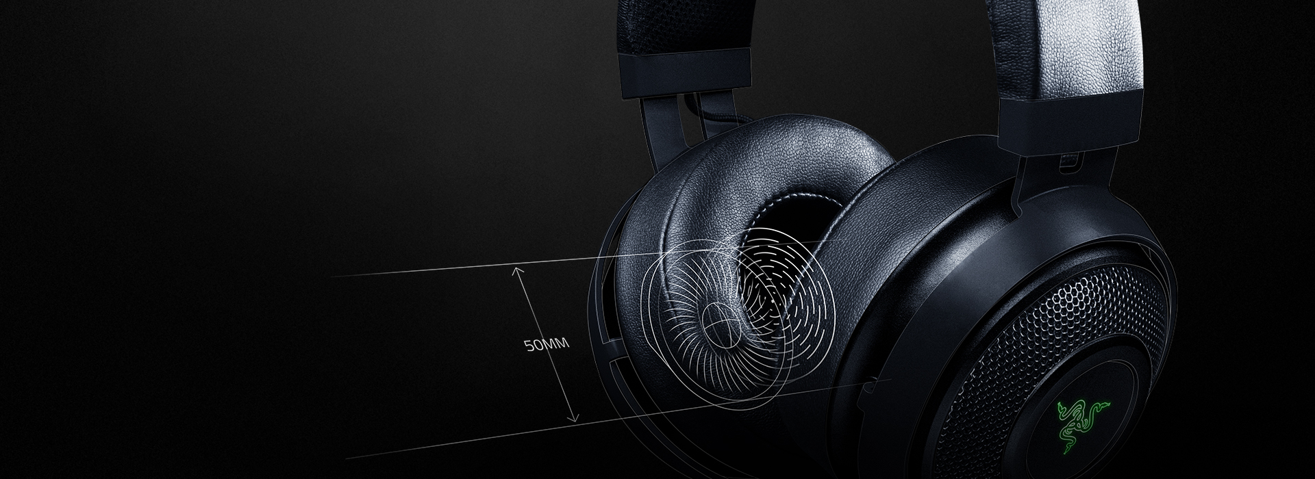 Driver 50mm tái tạo âm thanh rất tốt xét riêng đến việc đây là một tai nghe chuyên game