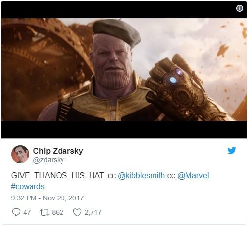 Có vẻ chiếc mũ nồi này khá hợp với dáng Thanos