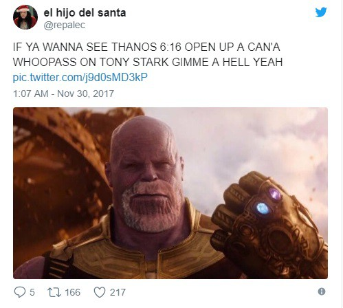 Hay đáng lẽ nên để cho Thanos một bộ râu quai nón như thế này chứ nhỉ?