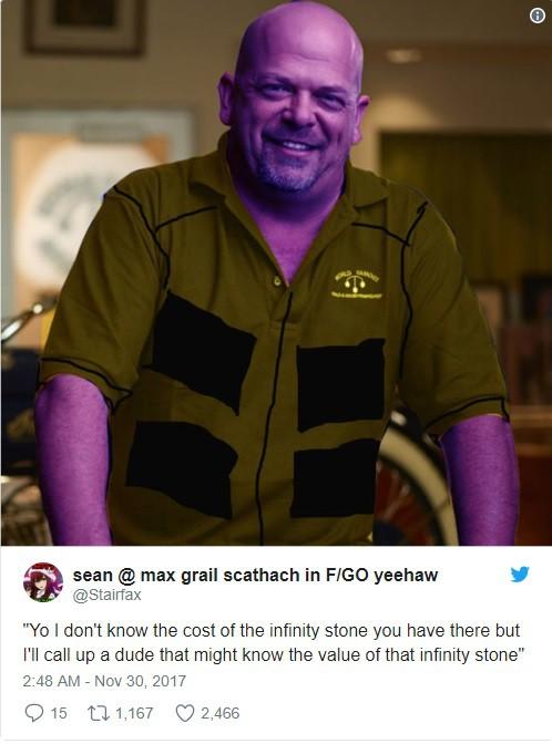 Nhiều người so sánh Thanos với Rick Harrison trong TV Show Pawn Shop.