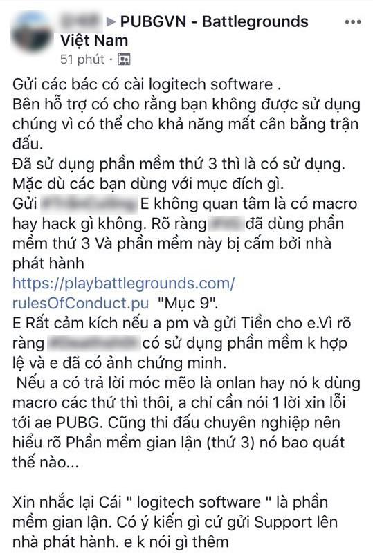 Tranh cãi xung quanh việc dùng phần mềm hỗ trợ chuột xịn bị cấm trong PUBG