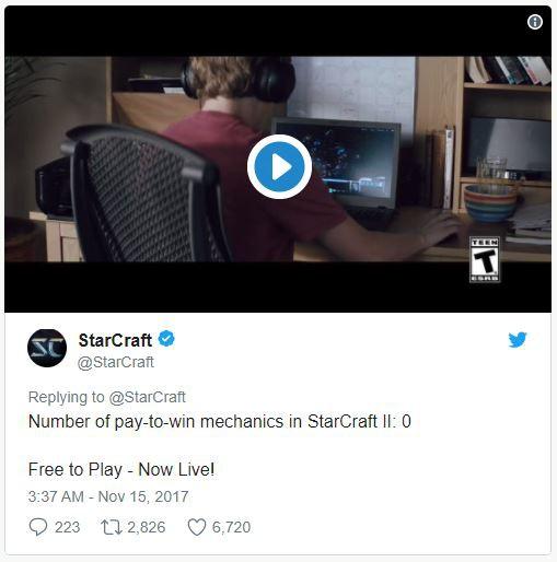 Số lượng những trận đấu pay-to-win trong StarCraft II: 0