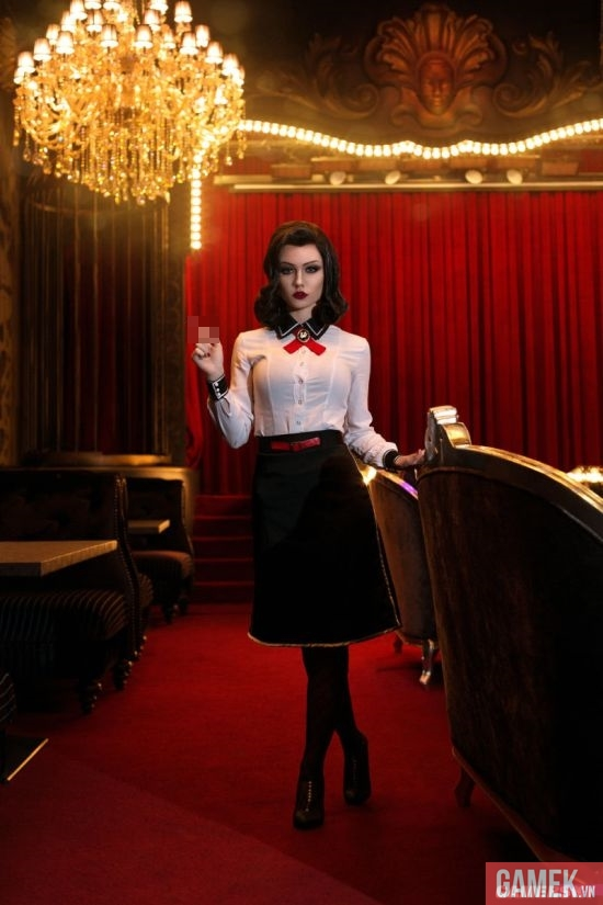 Cosplay mỹ nữ Elizabeth cực quyến rũ trong BioShock Infinite