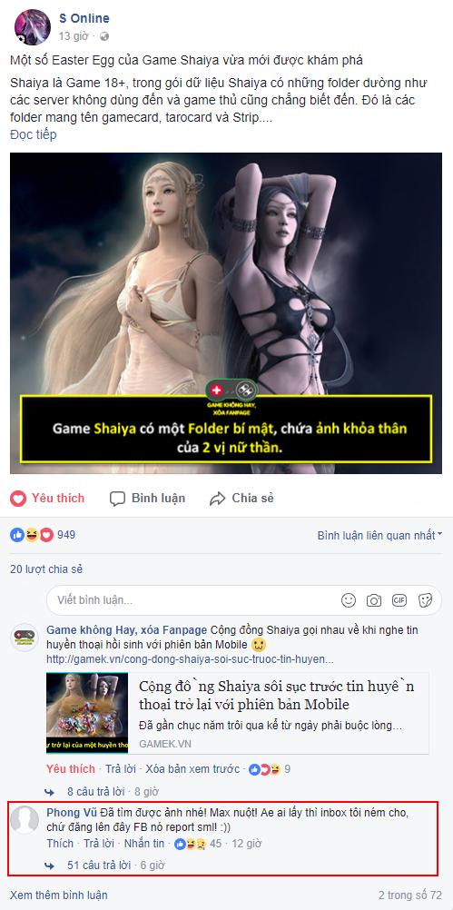 Theo như Easter Egg (bí mật) này, Shaiya có hẳn một Folder bí mật chứ ảnh không che của 2 vị nữ thần Bóng Tối và Ánh Sáng trong trò chơi.