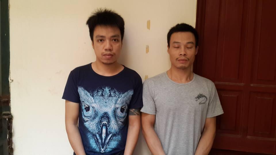 Long và Bảo bị bắt vì hành vi cướp tài sản
