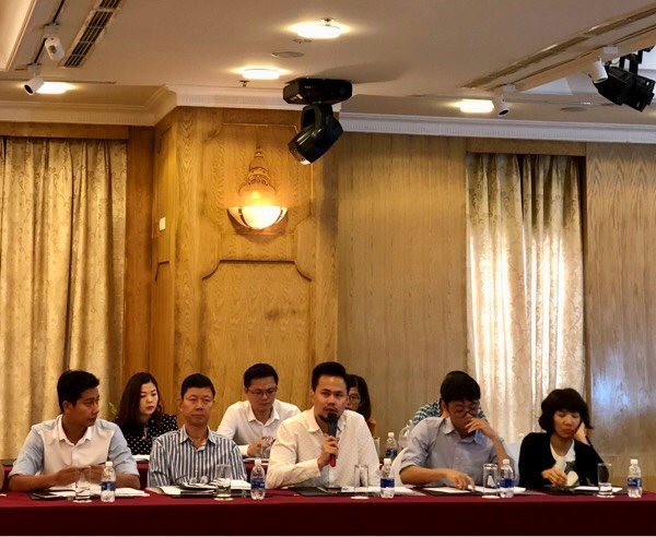 Ông Nguyễn Thanh Hưng, giám đốc VTC Intecom phát biểu tại hội thảo