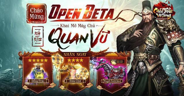 Chiến Thần Vô Song chính thức Open Beta, tặng tân thủ hàng loạt Thần tướng và Thần kỵ