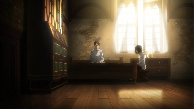 Mikasa luôn ở bên Eren bất chấp mọi hiểm nguy
