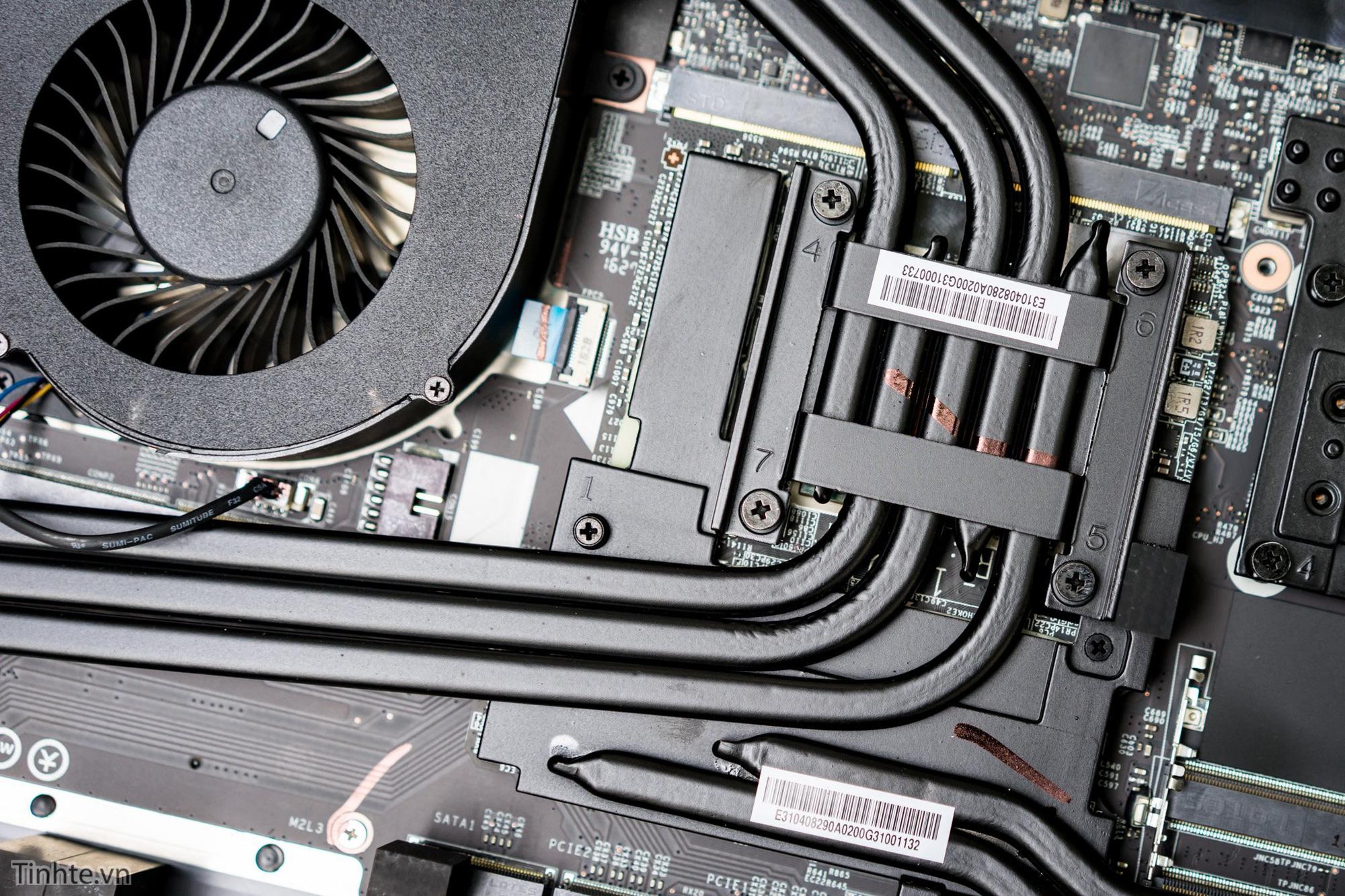 Hệ thống tản nhiệt cho GPU trên MSI GT73VR Titan.