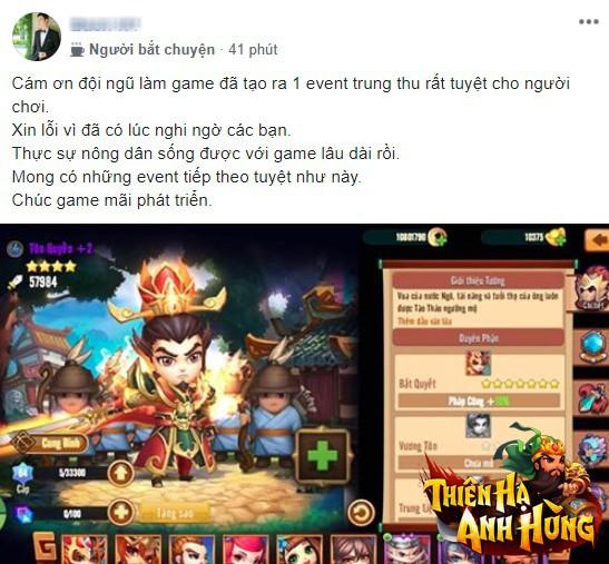 """Sau 2 tháng ra mắt, Thiên Hạ Anh Hùng vẫn được khen là """"game của mọi nhà"""", quá yêu chiều team nông dân - Ảnh 7."""