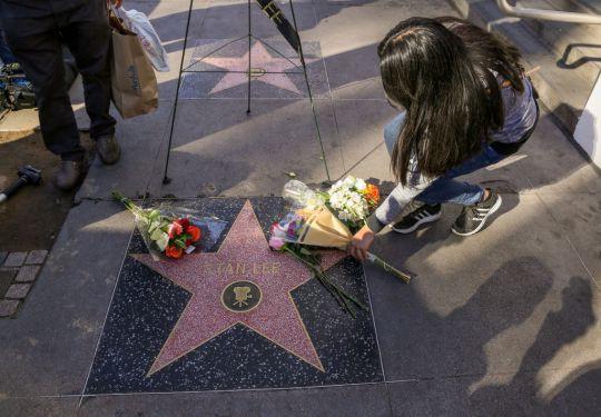 Đại lộ Danh Vọng nơi các fan hâm mộ tiễn đưa Stan Lee chặng đường cuối cùng - Ảnh 8.