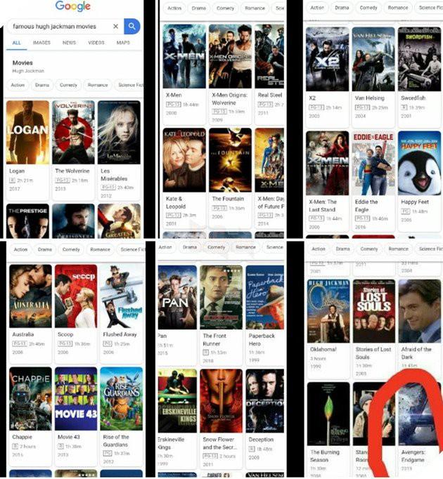 Kết quả tìm kiếm Google cho thấy: Người Sói Hugh Jackman sẽ tham gia Avengers: Endgame? - Ảnh 1.