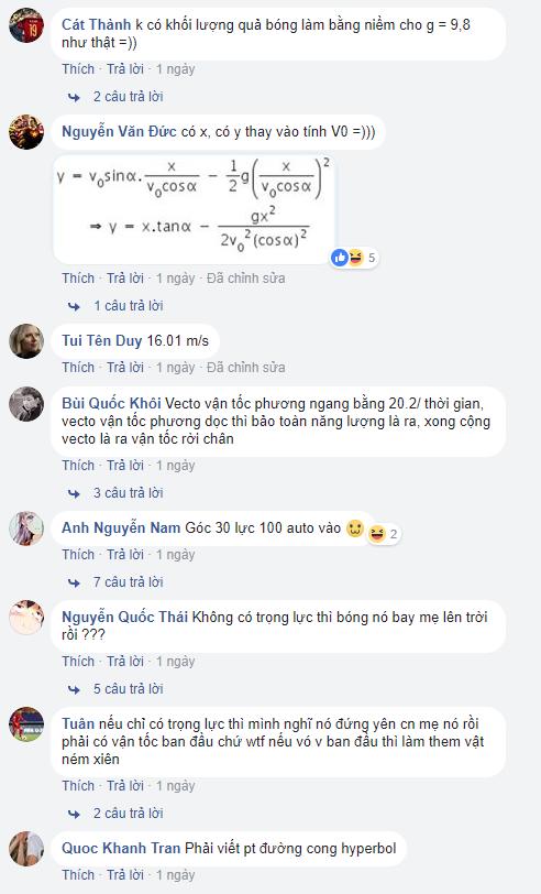 Và sau khi đọc những bình luận giải đề như thế này, mới biết kiến thức Vật Lý của dân chơi Bem Bem GO đáng nể đến thế nào.