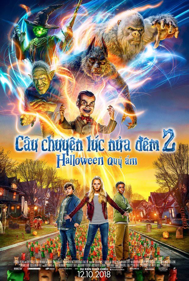 Phim kinh dị Câu Chuyện Lúc Nửa Đêm 2 tung trailer rùng rợn hé lộ một Halloween quỷ ám - Ảnh 1.