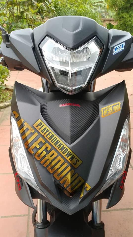 Quá đam mê PUBG Mobile, game thủ độ xe máy Honda GTR150 cực chất - Ảnh 2.