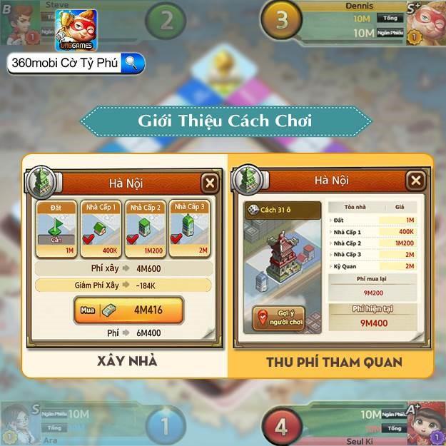 360mobi Cờ Tỷ Phú chính thức ra mắt ngày 29/8, tặng game thủ nhiều quà tặng hấp dẫn - Ảnh 3.