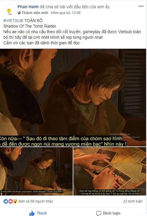 Xuất hiện game thủ tâm huyết nhất năm: Vietsub toàn bộ bom tấn vừa ra mắt Shadow Of The Tomb Raider - Ảnh 3.