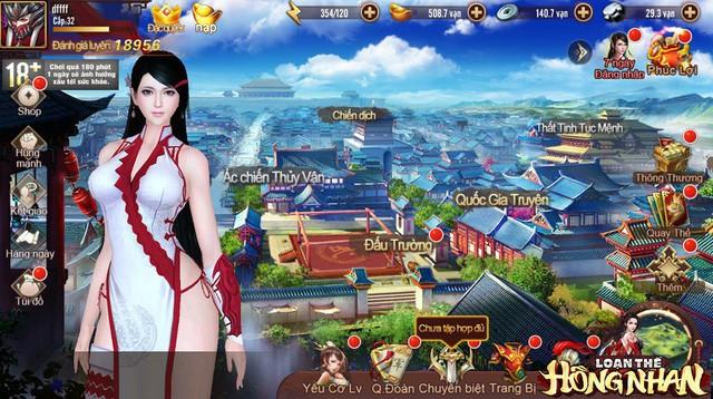 """Chơi thử Loạn Thế Hồng Nhan bản quốc tế: """"Mỹ nhân nhìn như hentai, game dễ chơi, cày vàng thoải mái"""" - Ảnh 1."""