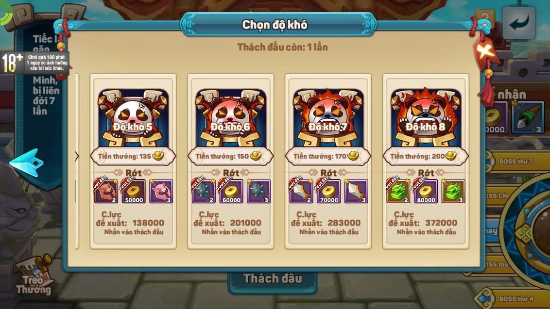 """Team nông dân """"gật gù"""" khen Boss của Tiểu Tiểu Tam Quốc Chí: Tùy chọn độ khó, mỗi ngày 1 loại, server càng lâu Boss càng trâu - Ảnh 4."""