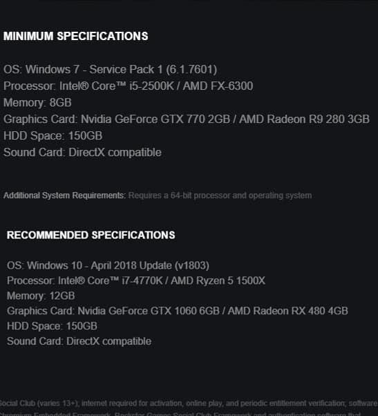 Hoảng hồn trước cấu hình của Red Dead Redemption 2 bản PC: Dung lượng 150GB - Ảnh 1.