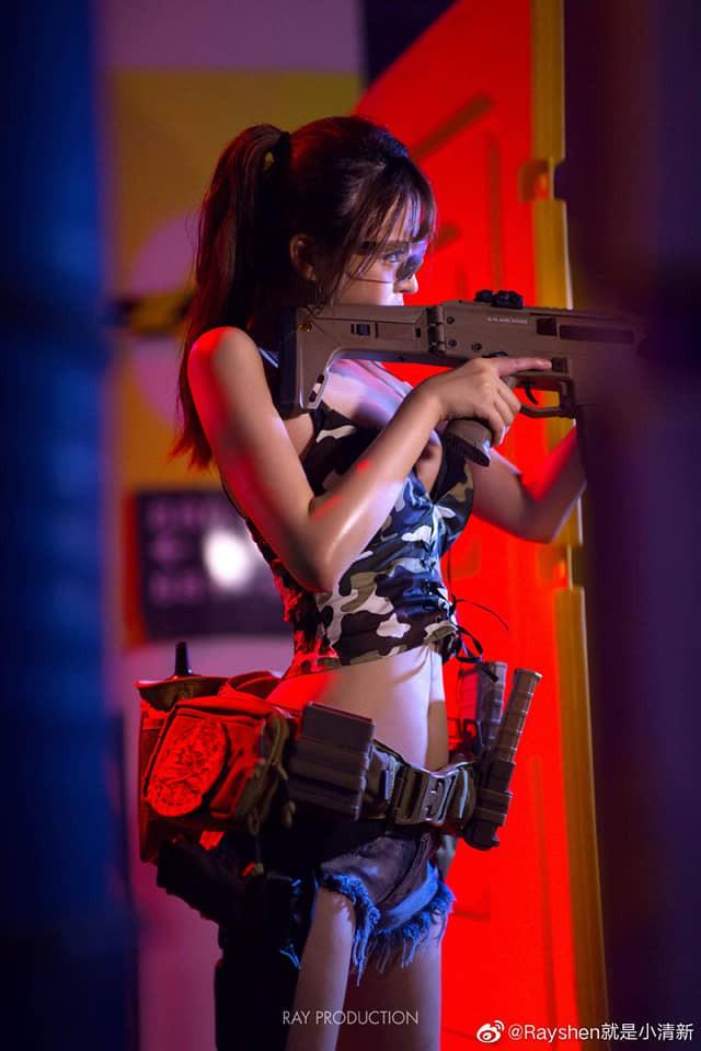 Vẻ sexy khó cưỡng bên cây súng của nữ cosplayer khiến 500 anh em không thể rời mắt - Ảnh 6.