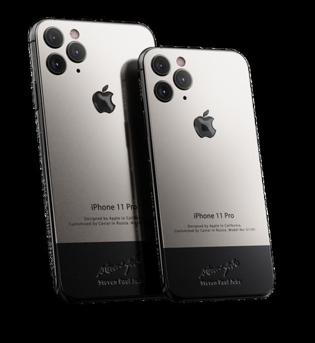 Bản iPhone 11 chỉ dành cho ai sinh ra ở vạch đích: Full giáp titan, đính vải áo len của Steve Jobs, giá 225 triệu - Ảnh 1.