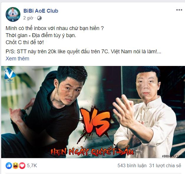 Cộng đồng AoE Việt xôn xao với lời thách thức solo của Chim Sẻ Đi Nắng dành cho nhà vô địch Thâm Quyến - Ảnh 2.