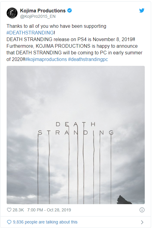 Bom tấn Death Stranding xác nhận sẽ ra mắt trên PC - Ảnh 2.