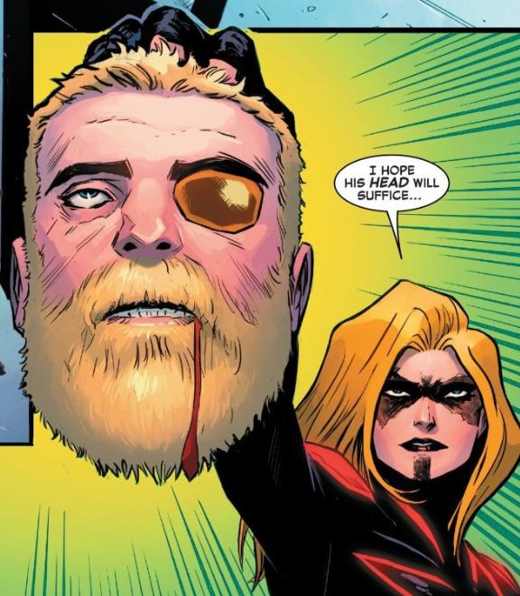 Tin sốc: Captain Marvel hắc ám vừa... vặt đầu của thần Thor? - Ảnh 9.