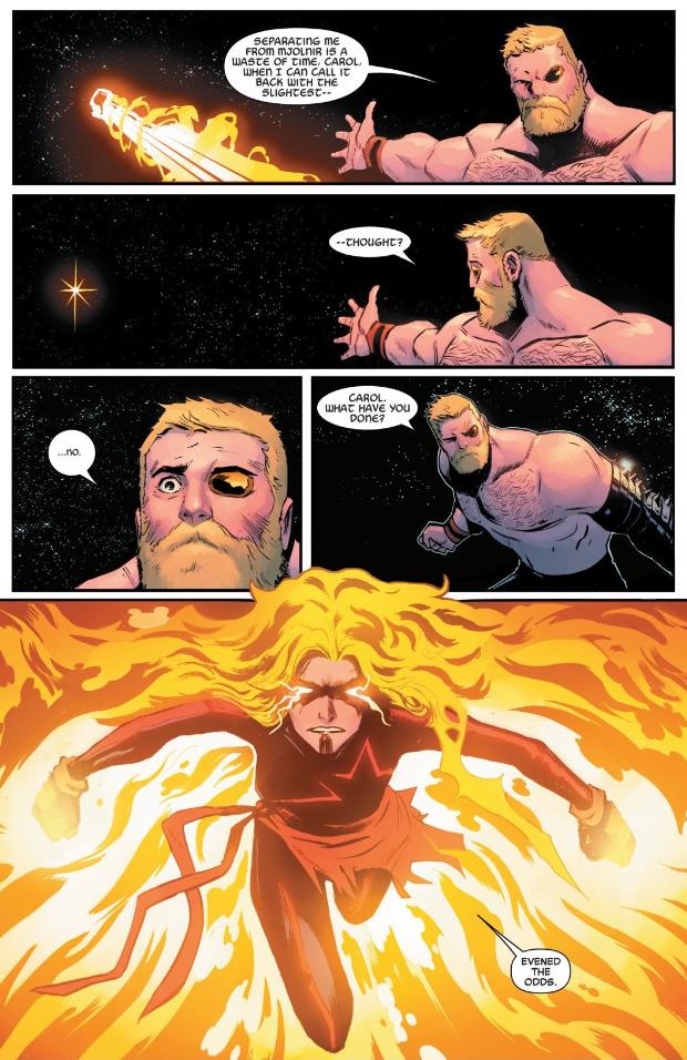 Tin sốc: Captain Marvel hắc ám vừa... vặt đầu của thần Thor? - Ảnh 8.