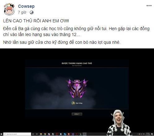 LMHT: Cowsep tự tin tuyên bố sắp sang Việt Nam làm Vlog, fan hâm mộ tư vấn nhờ thầy Ba làm hướng dẫn viên - Ảnh 2.