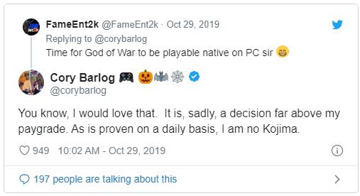 Ghen tị với Kojima, giám đốc God of War nói về khả năng đưa game lên PC - Ảnh 1.