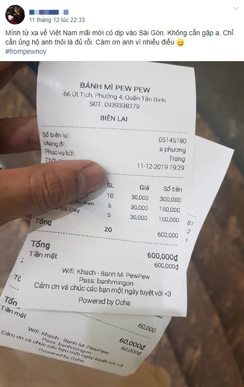 Cảm động fan cuồng của Pewpew, từ xa về Việt Nam ra ngay quán mua 600.000 tiền bánh mỳ, cộng đồng mạng bảo thế này có mà ăn cả tháng - Ảnh 2.