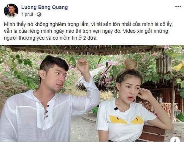 Ngân 98 xác nhận lộ clip nóng, Lương Bằng Quang nhanh chóng chính thức lên tiếng - Ảnh 1.
