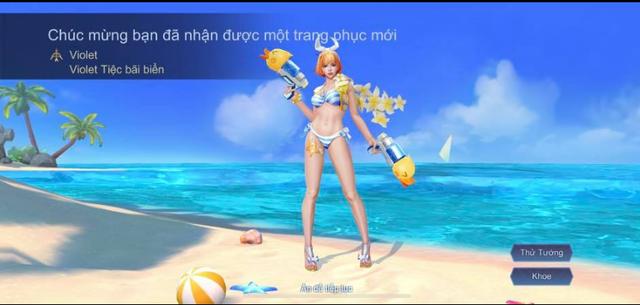 Liên Quân Mobile: Game thủ khoe Video nhận FREE Violet Tiệc Bãi Biển - skin giá 3,6 triệu đồng - Ảnh 3.