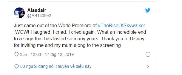 Phản ứng sớm về Star Wars: The Rise Of Skywalker: Cảm động, hoành tráng, là một cái kết trọn vẹn cho gia đình Skywalker - Ảnh 11.