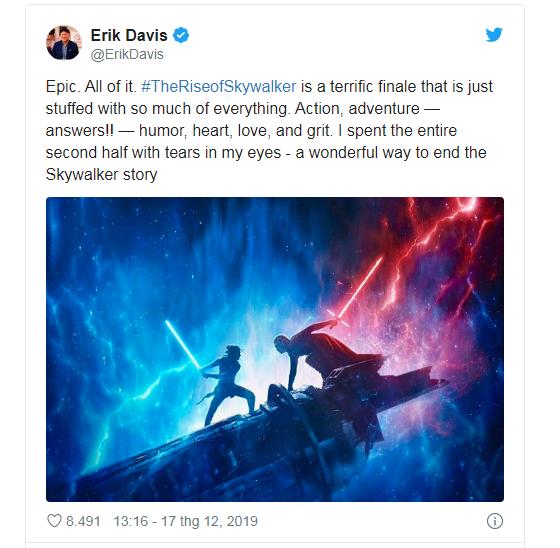 Phản ứng sớm về Star Wars: The Rise Of Skywalker: Cảm động, hoành tráng, là một cái kết trọn vẹn cho gia đình Skywalker - Ảnh 13.