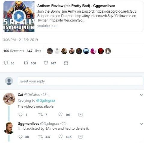 Chê Anthem là bom xịt, chàng Youtuber bị EA dằn mặt buộc phải xóa bài review - Ảnh 3.