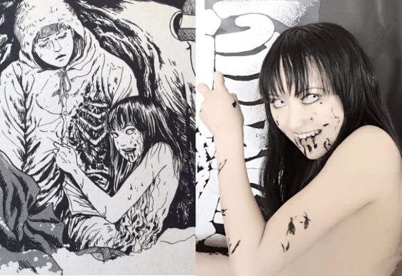 Hết hồn với màn cosplay của cô gái chuyên hóa thân thành ma trong manga Junji Ito - Ảnh 10.