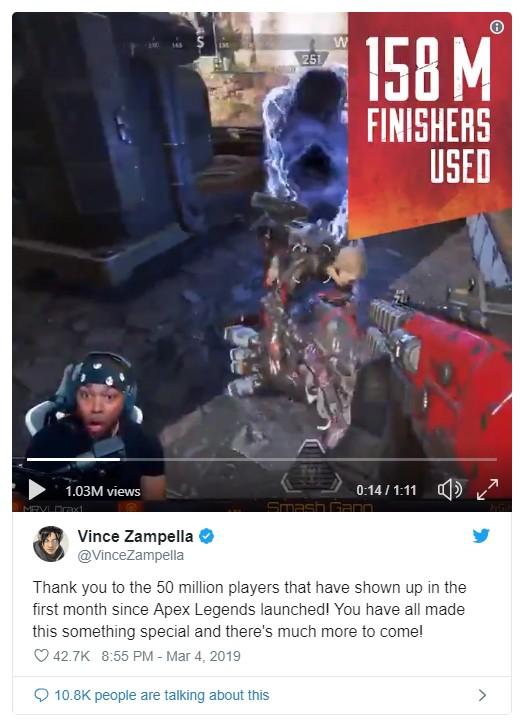 Apex Legends đạt 50 triệu người chơi chỉ trong 1 tháng, đập tan nát kỷ lục của Fortnite - Ảnh 2.